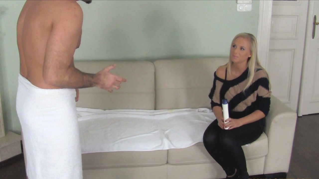 Blonde Massage Babe Gets Handsy With Agent's Dick FakeHub Porn